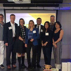 WorldChicago Fellow with her host and Board Member, Bruce Leech of the DePaul Coleman Entrepreneurship Center