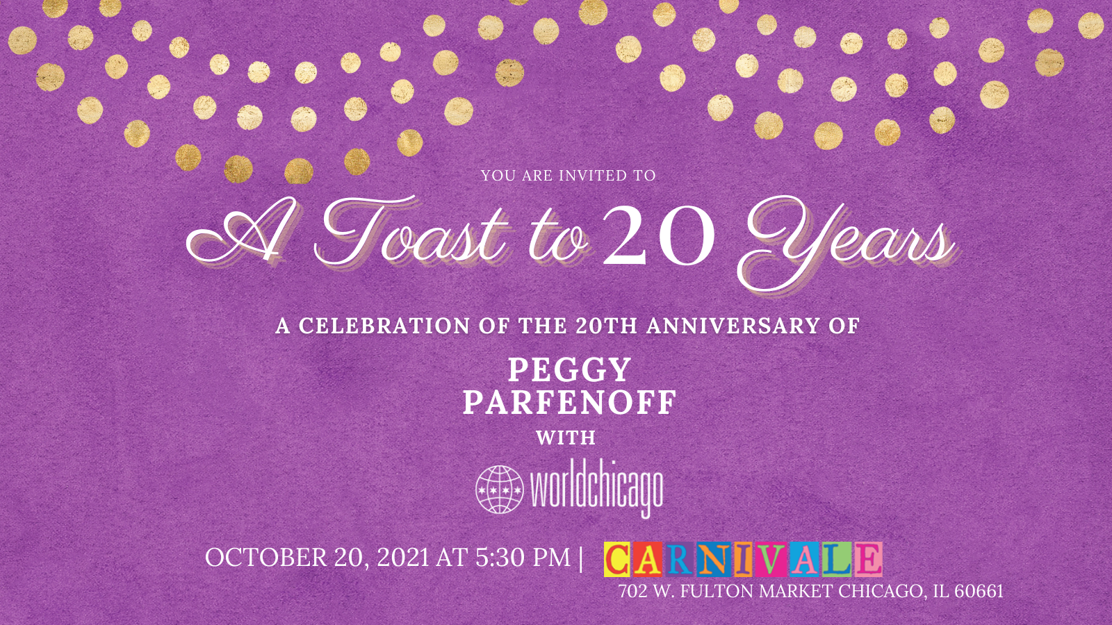 Toast to Twenty Years