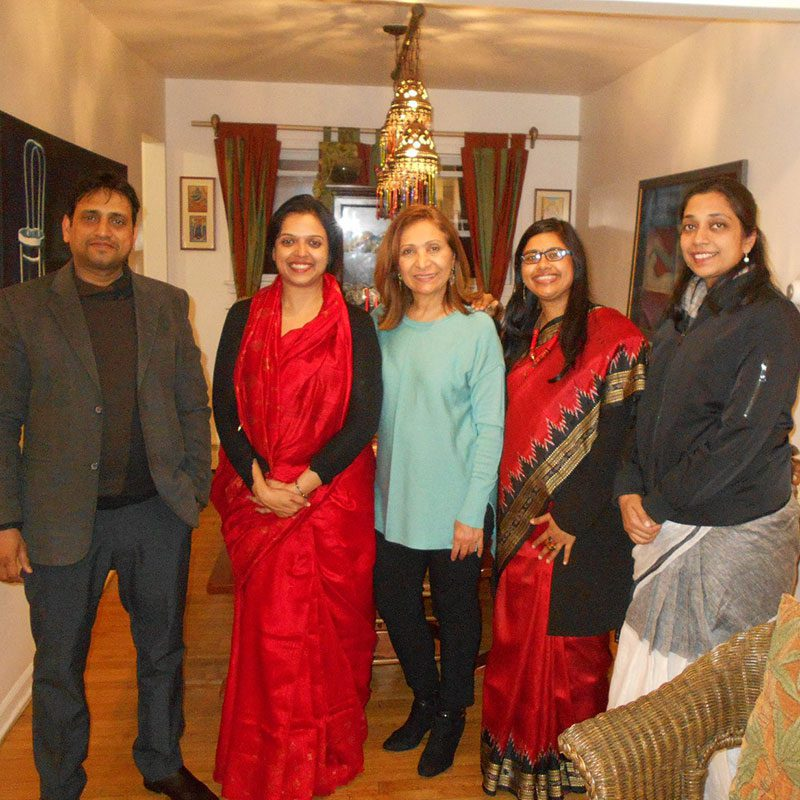 IVLP Higher Education Delegation from Indian with their dinner host at her home