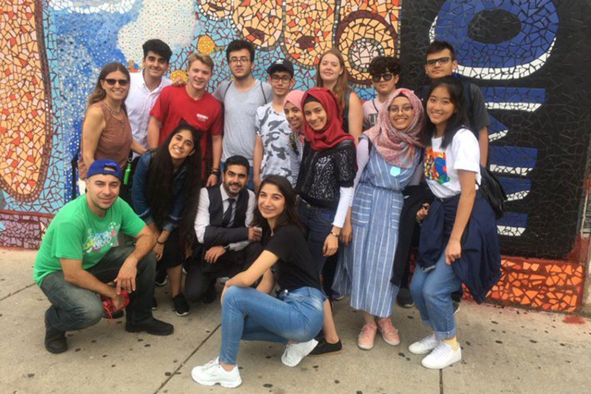 Youth participants visit the Pilsen Murals